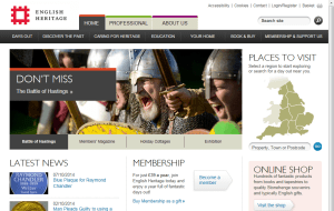 Preview 4 of the English Heritage Shop website