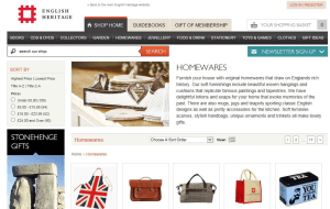 Preview 6 of the English Heritage Shop website