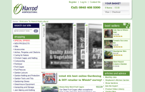 Preview 2 of the Harrod Horticultural website
