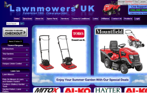 Preview 3 of the Lawn Mowers UK website