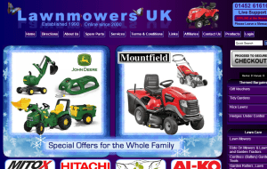 Preview 2 of the Lawn Mowers UK website