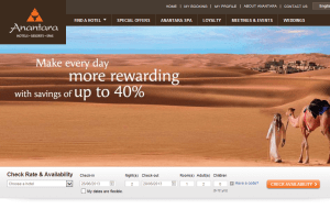 Preview 3 of the Anantara website