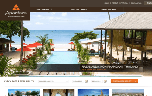Preview 2 of the Anantara website