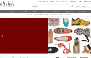 Preview 3 of the AllSole website