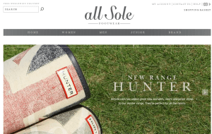 Preview 2 of the AllSole website