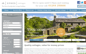 Preview 3 of the Sykes Holiday Cottages website
