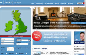 Preview 2 of the Sykes Holiday Cottages website