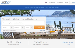 Preview 3 of the HomeAway website