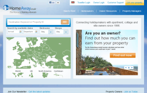 Preview 2 of the HomeAway website