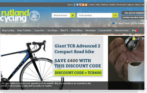 Preview 3 of the Rutland Cycling website