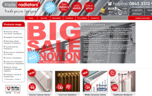 Preview 3 of the Trade Radiators website
