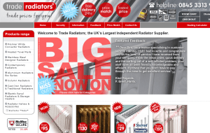 Preview 2 of the Trade Radiators website