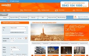 Preview 2 of the easyJet Holidays website