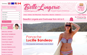 Preview 2 of the Belle Lingerie website