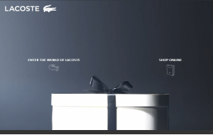 Preview 3 of the Lacoste website