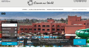 Preview 2 of the Be Live Hotels website