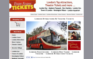 Preview 2 of the Evan Evans Tickets website