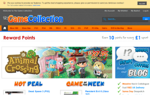 Preview 3 of the Game Collection website