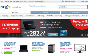 Preview 2 of the BT Business Direct website