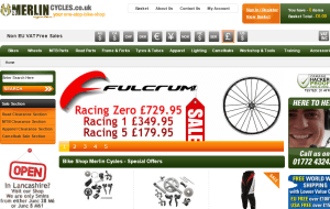 Preview 2 of the Merlin Cycles website