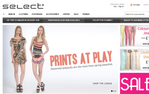 Preview 2 of the Select Fashion website