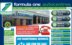 Preview 2 of the Formula One Autocentres website