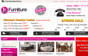 Preview 2 of the First Furniture website