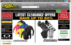 Preview 2 of the Cycle Store website