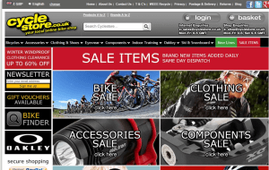 Preview 3 of the Cycle Store website