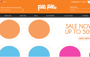 Preview 3 of the Folli Follie website