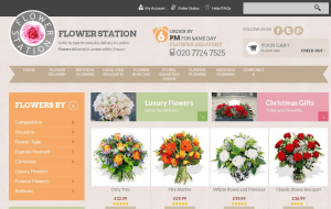 Preview 2 of the Flower Station website