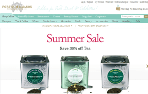 Preview 3 of the Fortnum & Mason website