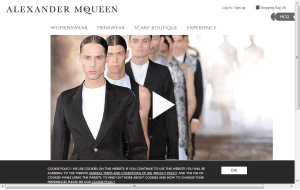 Preview 3 of the Alexander McQueen website