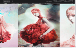 Preview 2 of the Alexander McQueen website