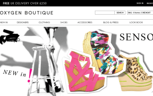 Preview 2 of the Oxygen Boutique website