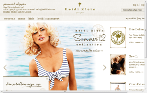 Preview 2 of the Heidi Klein website