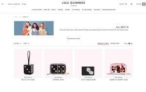Preview 2 of the Lulu Guinness website