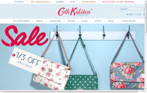 Preview 2 of the Cath Kidston website
