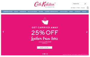 Preview 3 of the Cath Kidston website