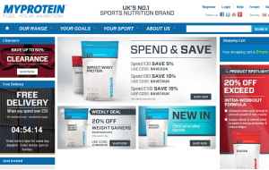 Preview 3 of the MyProtein website