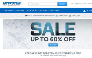 Preview 4 of the MyProtein website