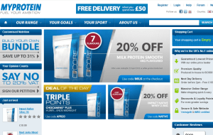Preview 2 of the MyProtein website