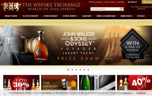 Preview 3 of the Whisky Exchange website