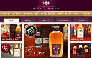 Preview 4 of the Whisky Exchange website