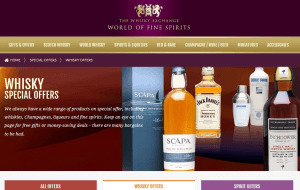 Preview 6 of the Whisky Exchange website