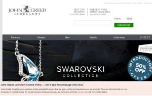 Preview 2 of the John Greed Jewellery website