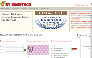 Preview 3 of the My Nametags website