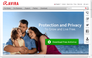 Preview 3 of the Avira Internet Security website