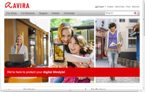 Preview 2 of the Avira Internet Security website