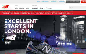 Preview 3 of the New Balance website